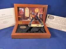 Case 1996 (4 Dot) Grand Ole Opry Canoe Knife Handles Mint In Display Case SN#98