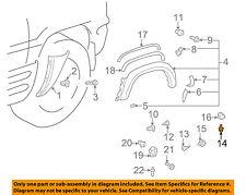 TOYOTA OEM 96-99 RAV4 Exterior-Wheel Flare Fastener 9015945009