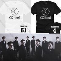 KPOP EXO Album Tshirt EXO Planet Chan Yeol Luhan T-Shirt Kai Chen Lay Tee