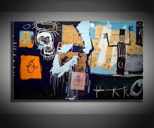 "Jean-Michel Basquiat ""SLAVE AUCTION"" HD print on canvas huge wall picture 36x24"""