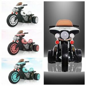 Kid 6V Battery Ride On Motorbike 3 Wheel Bike Tricycle Harley Style Electric Toy