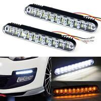 2x 12V Car Daytime Running Light DRL 30 LED Daylight Lamp with Turn Lights
