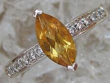 WoW☻ Ring aus 585 Gold mit ✨0,12 ct.✨ Brillant Diamant Citrin Brillanten Diamond