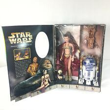 "12"" Princess Leia and 6"" R2-D2 as Jabba's Slaves Leia Collection Hasbro 1998 NEW"