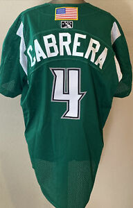 GERARDO CABRERA #4 DAYTON DRAGONS PLAYER WORN BASEBALL JERSEY OHIO