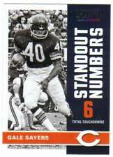 2017 Panini Score Football Standout Numbers #12 Gale Sayers Bears
