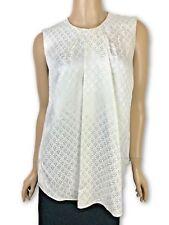 Balenciaga New Sz 36/2 Ivory Floral-Jacquard Sleeveless Top Blouse MSRP $875