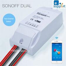 sonoff double canal DIY WiFi sans fil App Télécommande PRISE INTERRUPTEUR MODULE