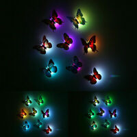 12Pack Color Changing 3D Butterfly LED Night Light Home Kids Room Wall Decor DIY