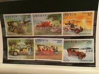 Liberia historical cars cancelled stamps R21816