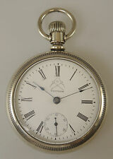 Large 18 Size Waltham Pocket Watch w/ PICK AXE Dial c1896
