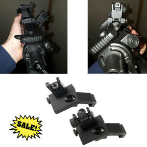 Hunting Mounts Front /& Rear 45 Degree Rapid Transition BUIS Backup Polymer Sight
