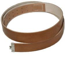 """WH Cintura in pelle banda Marrone, NUOVO lunghezza: 100 cm """" FATTO GERMANIA"""