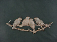 "Ornamental Iron Forest Birds Key Rack Wall Plaque Cast Iron 11"" Figurine"