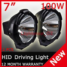 "2PCS 7"" 100W HID XENON DRIVING LIGHTS SPOTLIGHTS 12V OFFROAD SPOT PENCIL 4WD"