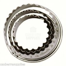 Tala Pastry Cutters Crinkled - Stainless Steel Set of 3