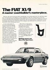 1982 Fiat Bertone X1/9 X19 - coachbuilder - Classic Vintage Advertisement Ad D01