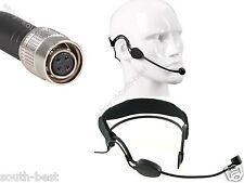 Black - earhook Headset Microphone mic For Audio Technica Wireless 4pin