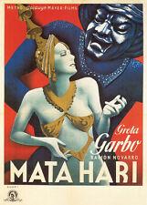 Mata Hari Greta Garbo vintage movie poster print