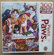 A 300 LARGE PIECE JIGSAW PUZZLE BY MASTER PIECES - PLAYFUL PAWS