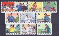 China PRC 1966 Women in Service set hinged mint, S75