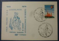 FIL CARD FESTIVAL EUROPEO BASKET - ROSETO TERAMO - 1975