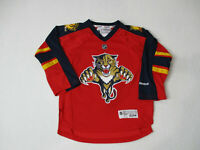 Reebok Florida Panthers Hockey Jersey Youth Small Medium Red NHL Hockey Boys