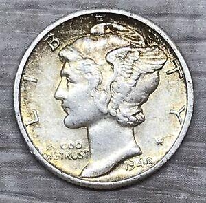 1942-D Mercury Dime Silver Coin (D104)