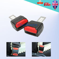 2 x Car Seat Belt Clip Extender Support Buckle & Safety Alarm Stopper Canceller