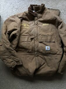 Carhartt Vintage Tan Lined Insulated Coveralls Utility Work Suit Mens Size 50 R