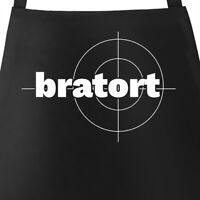 Bratort Grill-Schürze für Männer mit Parodie-Motiv Küchen-Schürze Moonworks®