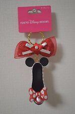 Tokyo Disneyland Disneysea Minnie Mouse Shoe Keychain With Autograph Polka Dots