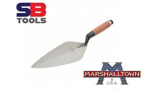 "Marshalltown 10""  Brick Trowel London Pattern Leather Handle M3310L LEATHER NEW"
