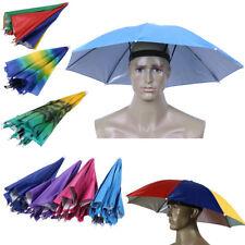Foldable Outdoor Sun Umbrella Hat Cap Golf Fishing Camping Headwear Cap Head Hat