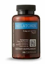 Amazon Elements Melatonin 5mg, Vegan, 195 Capsules, 6 month supply