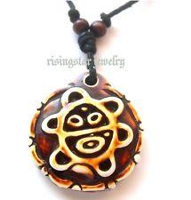 Men Women Unique Taino Tribal Culture SUN Symbol Embossed Necklace