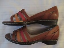 NEW WOMENS SZ 10 M SANDALS SOFTSPOTS 7325980 BROWN RUST TAN LEATHER SHOES