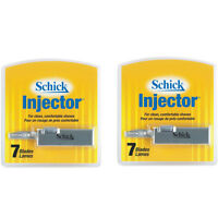 Schick Injector Blades with durable chromium 7 blades per pack - Pack of 2