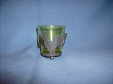Rooster Votive Holder Green