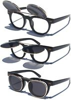 Retro Vintage Style Flip Up Sunglasses Lens with Clear Lens Steampunk Glasses
