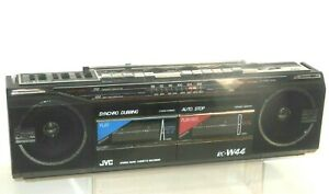 Vintage Ghetto Blaster Boombox Radio Tape Recorder JVC RC - W 44 Fighter