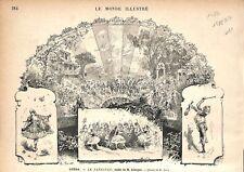 Paris Opéra Garnier Le Fandango Ballet Gaston Salvayre Compositeur GRAVURE 1877
