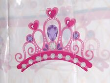 "Princess Table Cover, Plastic Birthday Table Decor, Tablecloth, Crown 54"" x 84"""