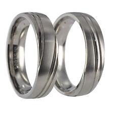 2  Edelstahl Ringe Partnerringe Freundschaftsringe Eheringe incl. Gravur  20P009