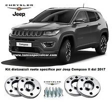 JEEP COMPASS dal 2017 kit 4 distanziali ruote ant. sp 17mm + post sp 20mm  (0203