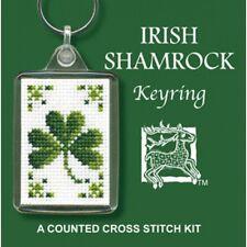 Irish Shamrock Ireland Keyring Cross Stitch Kit By Textile Heritage