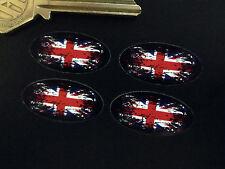 drapeau UNION JACK fondu au noir Ovale Autocollant Voiture Vélo 30mm