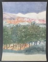 Vtg Limited Edition Signed Landscape Silk Screen Serigraph Print Unframed