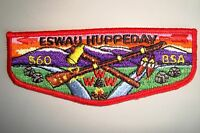 OA ESWAU HUPPEDAY LODGE 560 PIEDMONT AREA COUNCIL PATCH TOMAHAWK SERVICE FLAP