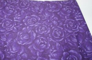 """2yds x 44"""", Unbranded, """" Purple Flowers"""", Cotton, Sewing/Qulting Fabric"""